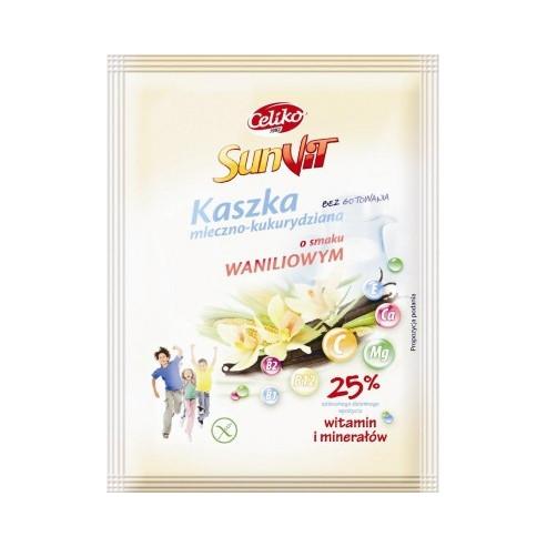 CELIKO Kaszka mleczno - kukurydziana o smaku truskawkowym bezglutenowa