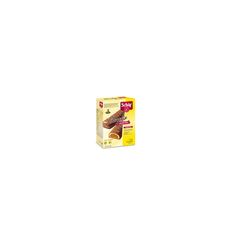 Schar CHOCOLIX - bezglutenowy baton z nadzieniem karmelowym w polewie czekoladowej 5szt.