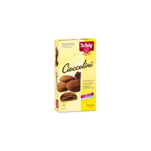 Schar CIOCCOLINI  - bezglutenowe herbatniki z nadzieniem z orzchów laskowych