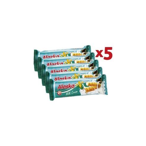 Alaska - Rurki kukurydziane nadziewane kremem MLECZNYM -pakiet 5 szt.