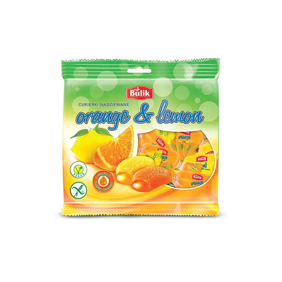ORANGE & LEMON - karmelki owocowe nadziewane bezglutenowe