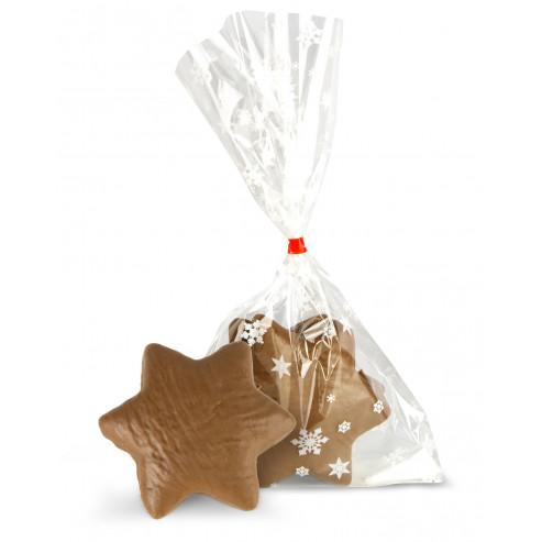 Gwiazdki piernikowe z nadzieniem w czekoladzie mlecznej bezglutenowe