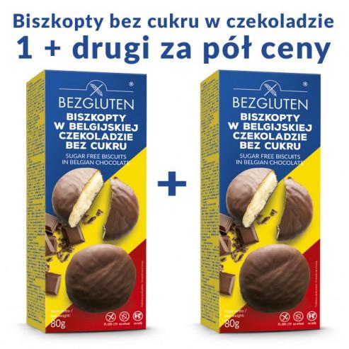 KUP JEDEN DRUGI ZA PÓŁ CENY! Biszkopty w belgijskiej czekoladzie bez cukru NOWOŚĆ!