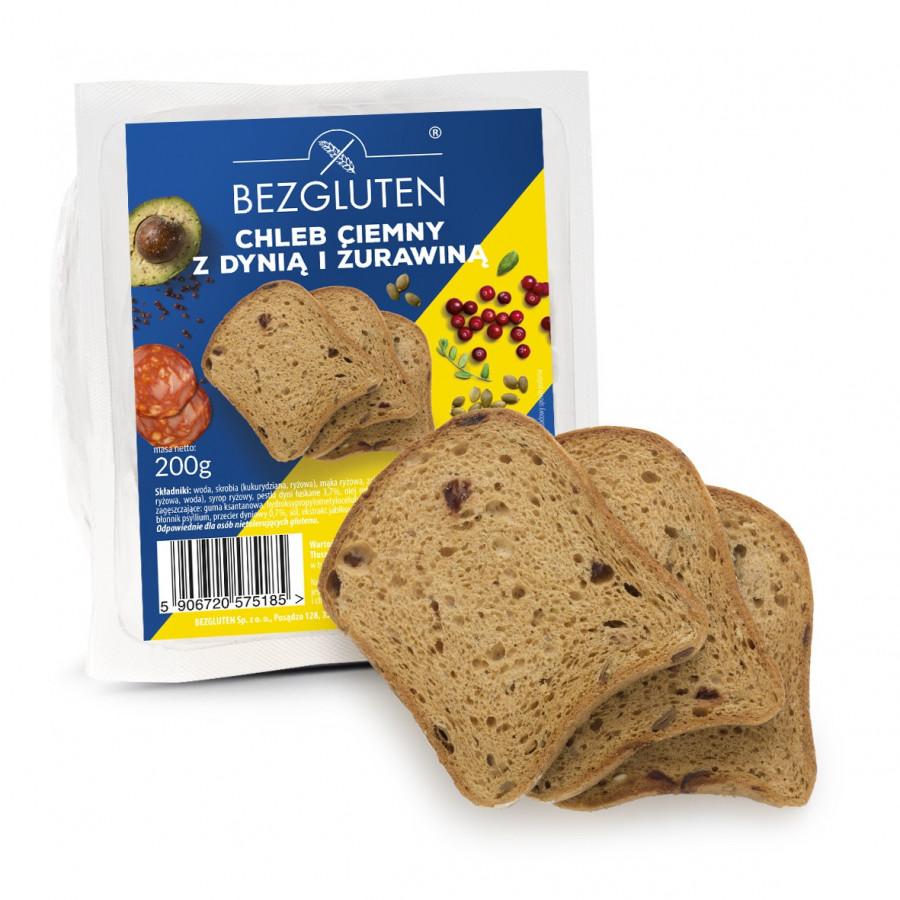 Chleb ciemny z dynią i żurawiną 200g bezglutenowy NOWOŚĆ! SUPERFOODS!