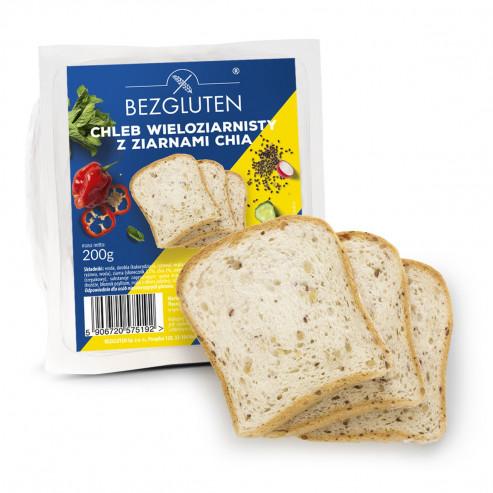 Chleb wieloziarnisty z chia 200g bezglutenowy NOWOŚĆ! SUPERFOODS!