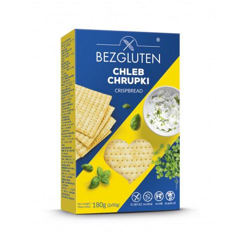 Chleb chrupki bezglutenowy 180 g, 14 kromek (w opakowaniu  2 saszetki po 7 kromek)