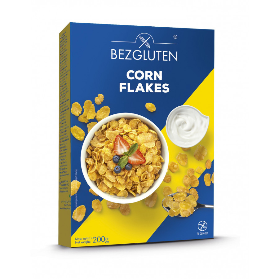 Corn Flakes - płatki kukurydziane bezglutenowe.