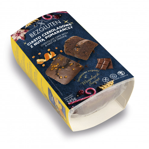 Ciasto świąteczne czekoladowe z nutą pomarańczy 245 g