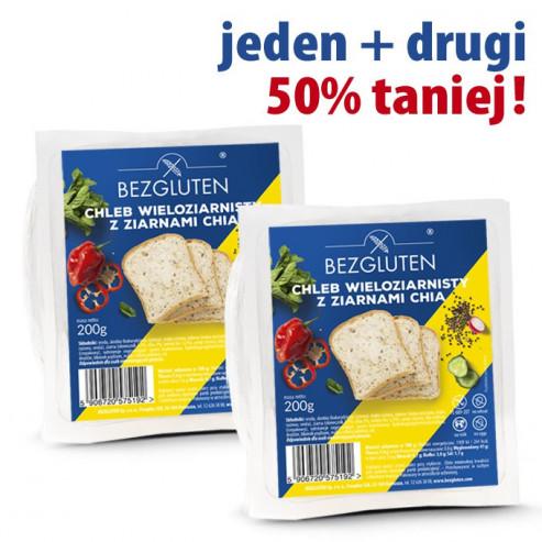 PAKIET Chleb wieloziarnisty z chia - druga paczka 50 % taniej - 2 X 200 G