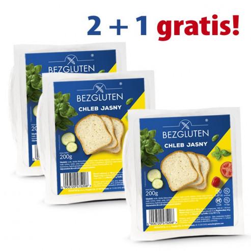 PAKIET 2+1 gratis Chleb jasny 3x200g