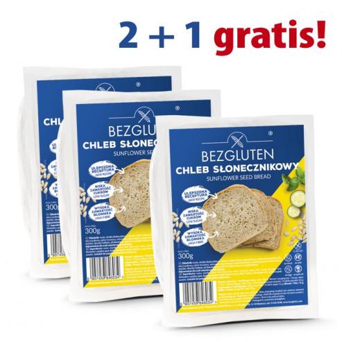 PAKIET 2 + 1 gratis - Chleb słonecznikowy 3 x 300G