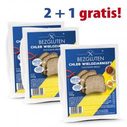 PAKIET 2 + 1 gratis  - Chleb wieloziarnisty 3 x 300G