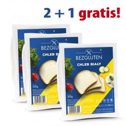 PAKIET 2 + 1 gratis Chleb biały bezglutenowy  3x 300 g