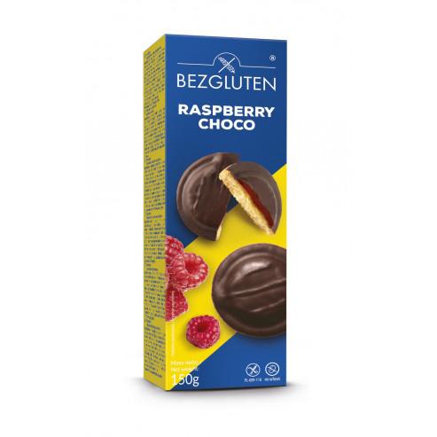 Raspberry Choco - biszkopty z galaretką o smaku  malinowym w czekoladzie bezglutenowe
