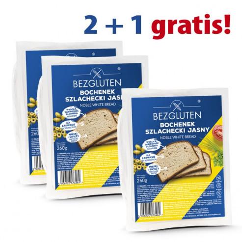 PAKIET 2+1 gratis Bochenek Szlachecki Jasny bezglutenowy 3x260g