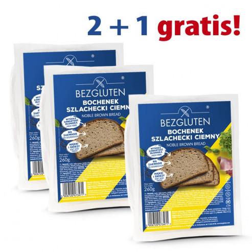 PAKIET 2+1 gratis Bochenek Szlachecki Ciemny bezglutenowy 3x260g