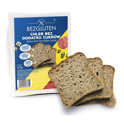 Chleb bez dodatku cukrów bezglutenowy 350 g