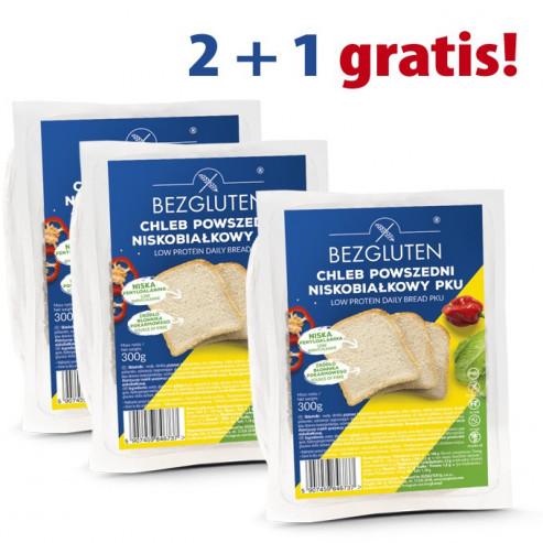 PAKIET 2+1 gratis Chleb powszedni niskobiałkowy PKU