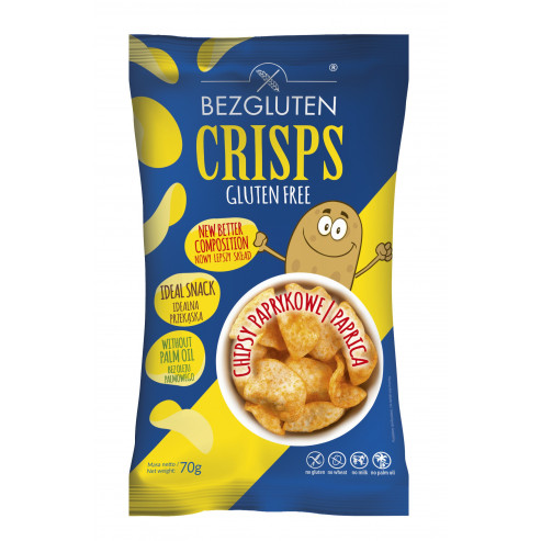 Crisps o smaku paprykowym bezglutenowe NOWOŚĆ!