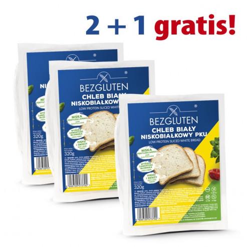 PAKIET 2+1 GRATIS Chleb biały niskobiałkowy PKU