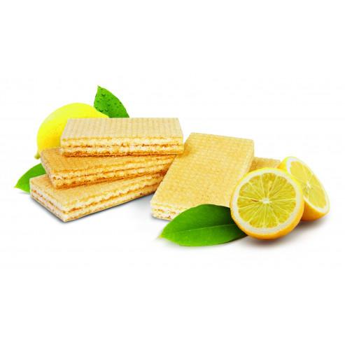 Wafelki z nadzieniem o smaku cytrynowym niskobiałkowe PKU