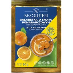 Galaretka o smaku pomarańczowym w proszku niskobiałkowa PKU