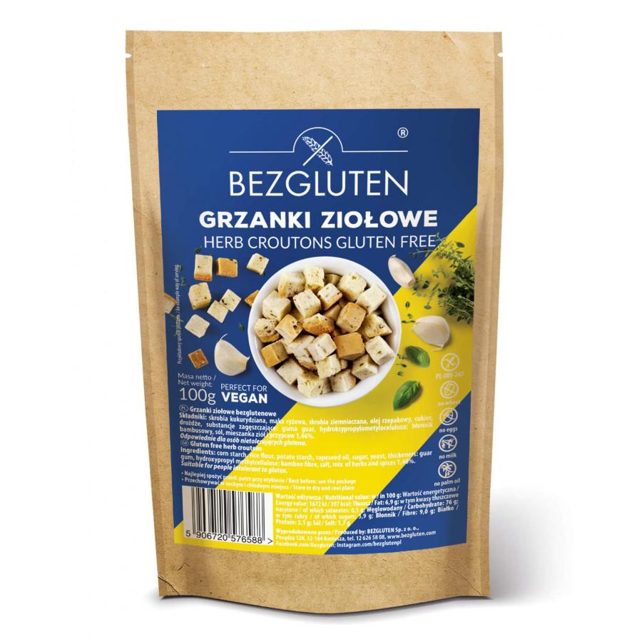 Bezgluten - Grzanki z ziołami bezglutenowe