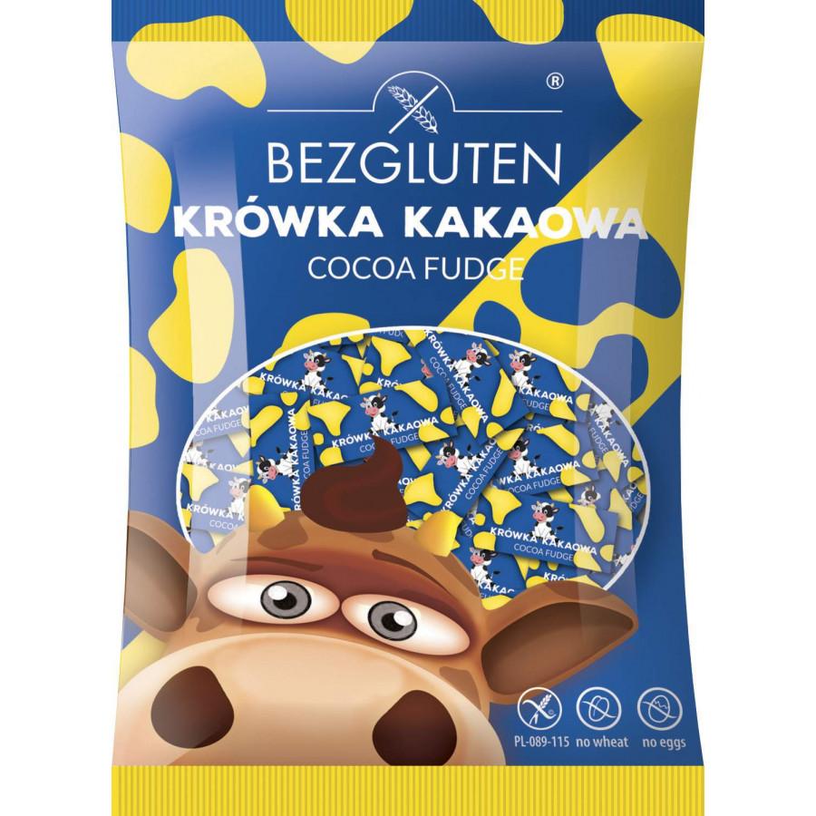 Krówki o smaku czekoladowym. Produkt bezglutenowy
