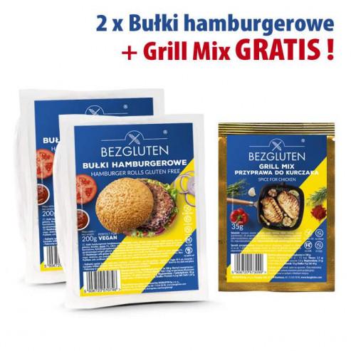 PAKIET 2 x bułki hamburgerowe + grill mix gratis