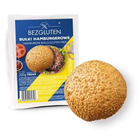 Bułki hamburgerowe bezglutenowe 200 g /3 szt./