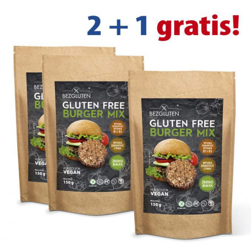 PAKIET 2+1 gratis Burger Mix Vegan 3x150g