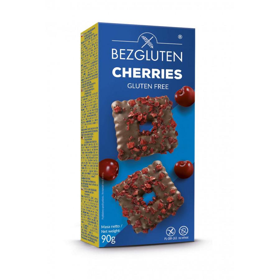 Cherries - herbatniki w czekoladzie z wiśniami