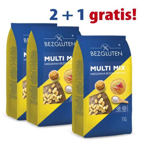 PAKIET 2 + 1 gratis  - PAKIET 2 + 1 gratis  -Multi Mix - mieszanka bezglutenowa do ogólnego zastosowania 1kg