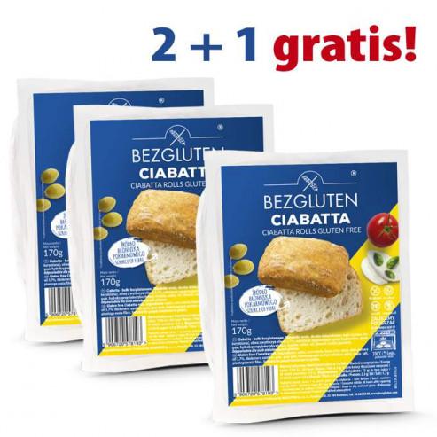 PAKIET 2+1 gratis Ciabatta 3x170g