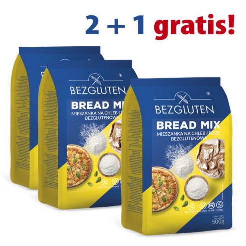 PAKIET 2+1 gratis Bread mix 3x500g