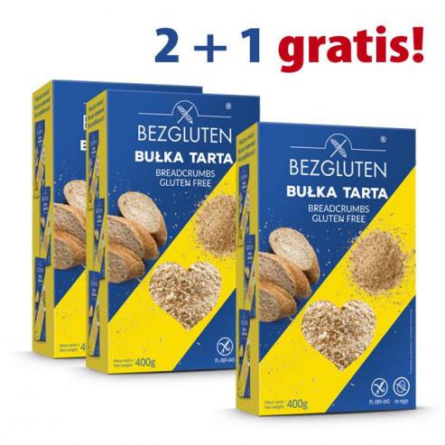 PAKIET 2+1 gratis Bułka tarta bezglutenowa 3x400 g