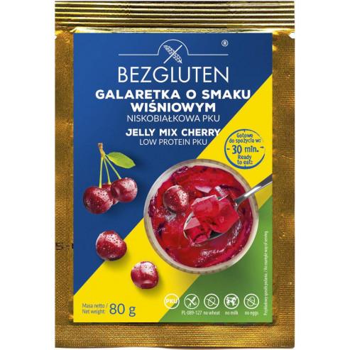 Galaretka o smaku wiśniowym w proszku niskobiałkowa PKU